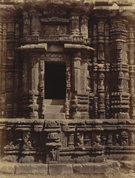 Close view of window in northern façade of Ananda Vasudeva Temple, Bhubaneshwar